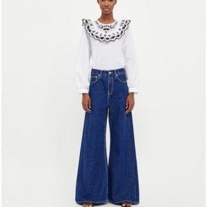 NWT Zara High Waist Vintage HW Flare Dark Jeans